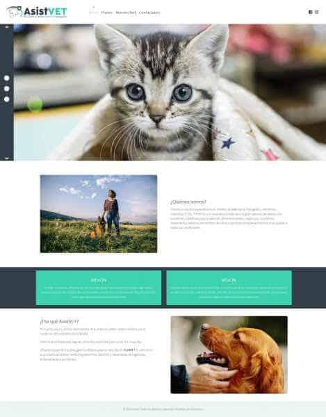 Sitio Web Asistvet
